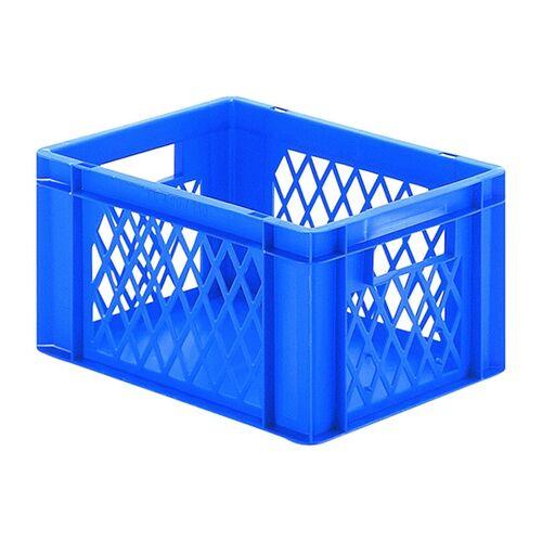 Transportkrat Euronorm plastic bak, krat TK1 400x300x210 blauw