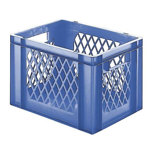 Transportkrat Euronorm plastic bak, krat TK1 400x300x270 blauw