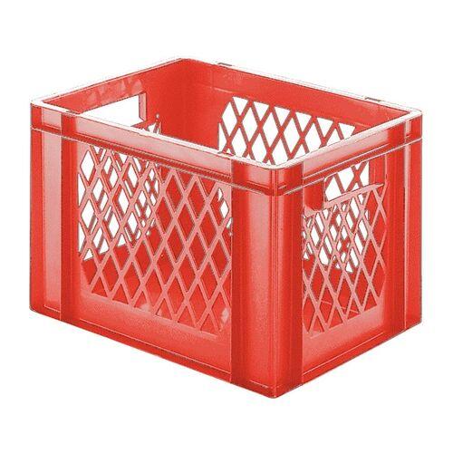 Transportkrat Euronorm plastic bak, krat TK1 400x300x270 rood