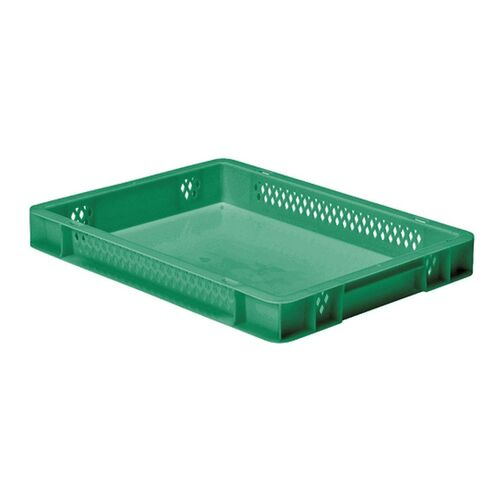 Transportkrat Euronorm plastic bak, krat TK1 400x300x50 groen