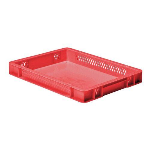 Transportkrat Euronorm plastic bak, krat TK1 400x300x50 rood