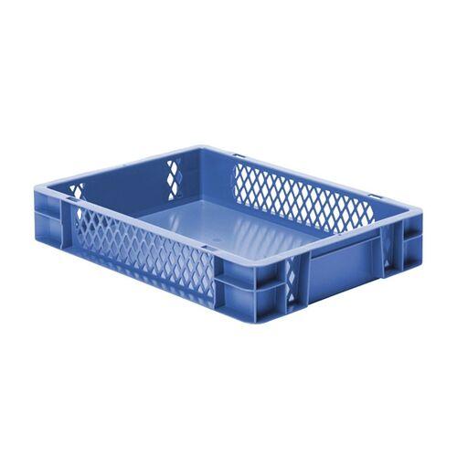 Transportkrat Euronorm plastic bak, krat TK1 400x300x75 blauw