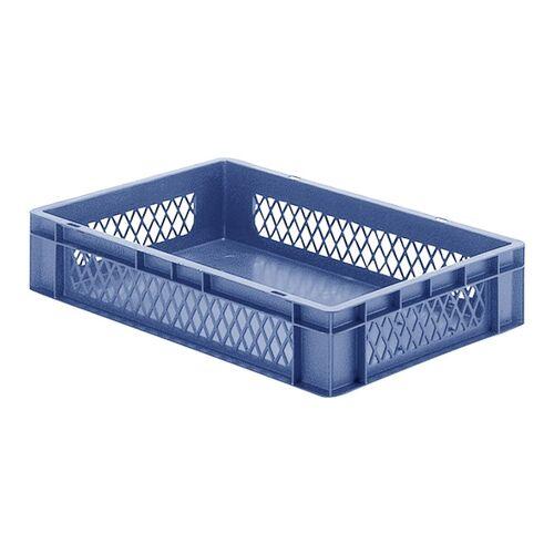 Transportkrat Euronorm plastic bak, krat TK1 600x400x120 blauw