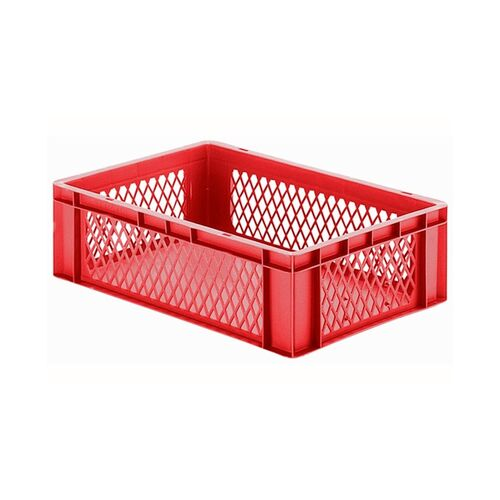 Transportkrat Euronorm plastic bak, krat TK1 600x400x175 rood