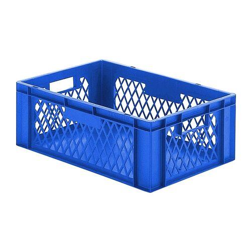 Transportkrat Euronorm plastic bak, krat TK1 600x400x210 blauw