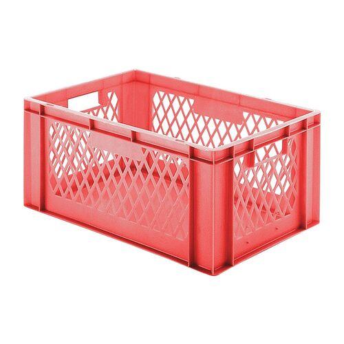 Transportkrat Euronorm plastic bak, krat TK1 600x400x270 rood