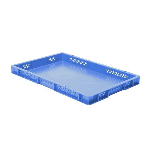 Transportkrat Euronorm plastic bak, krat TK1 600x400x50 blauw