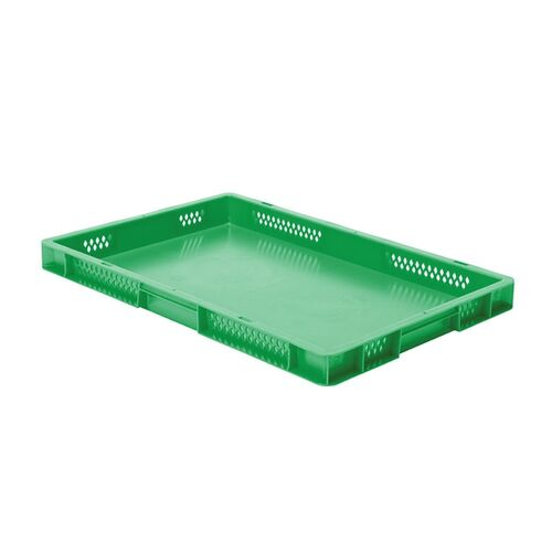 Transportkrat Euronorm plastic bak, krat TK1 600x400x50 groen