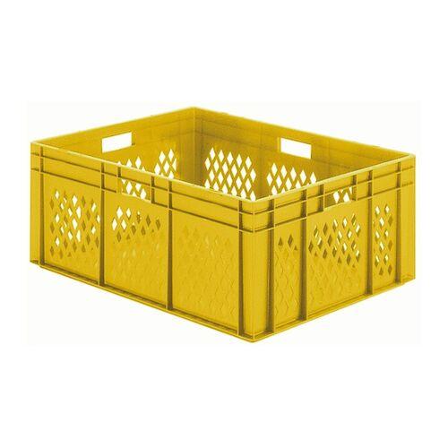 Transportkrat Euronorm plastic bak, krat TK1 800x600x320 geel