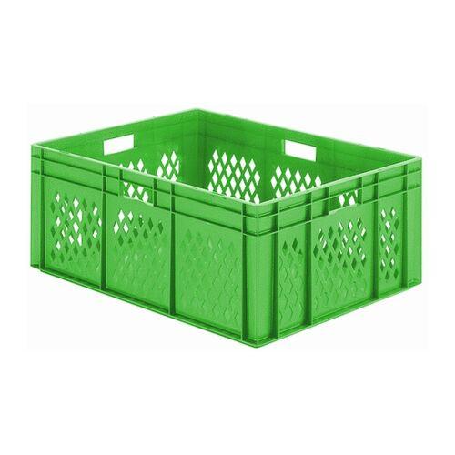 Transportkrat Euronorm plastic bak, krat TK1 800x600x320 groen