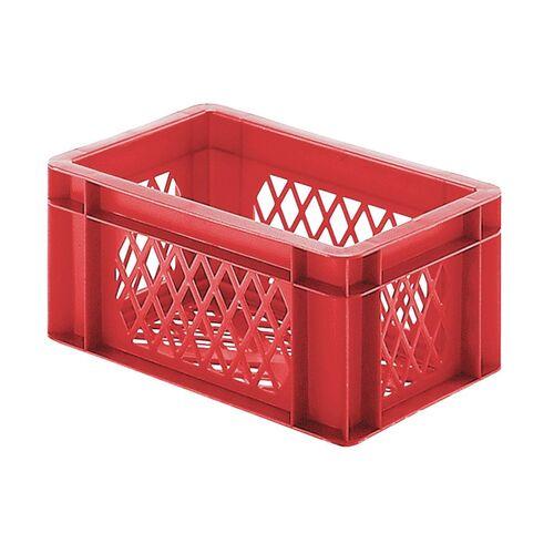 Transportkrat Euronorm plastic bak, krat TK2 300x200x145 rood