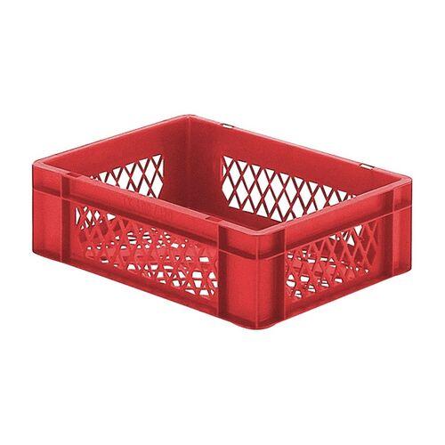 Transportkrat Euronorm plastic bak, krat TK2 400x300x120 rood