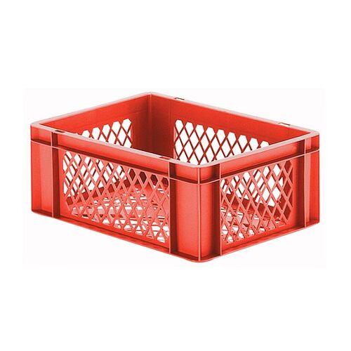 Transportkrat Euronorm plastic bak, krat TK2 400x300x145 rood