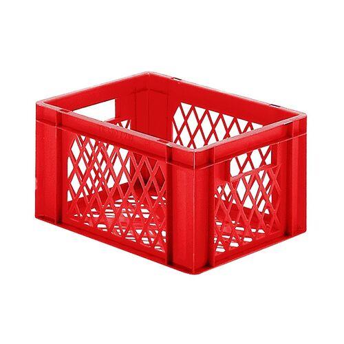 Transportkrat Euronorm plastic bak, krat TK2 400x300x210 rood