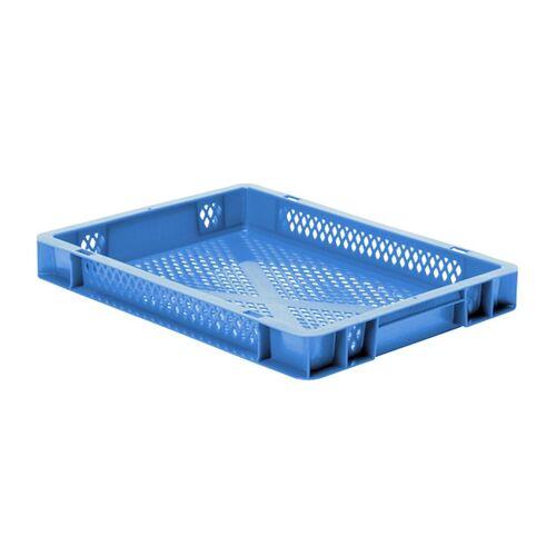 Transportkrat Euronorm plastic bak, krat TK2 400x300x50 blauw