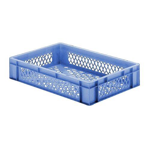 Transportkrat Euronorm plastic bak, krat TK2 600x400x120 blauw