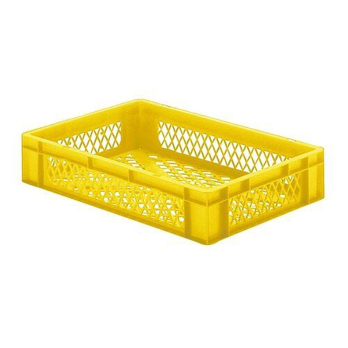 Transportkrat Euronorm plastic bak, krat TK2 600x400x120 geel