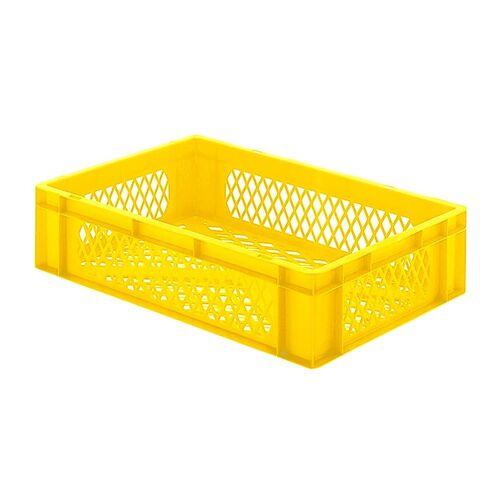 Transportkrat Euronorm plastic bak, krat TK2 600x400x145 geel