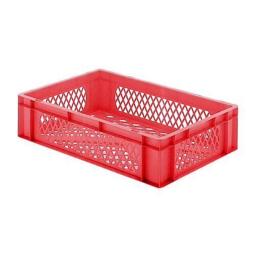 Transportkrat Euronorm plastic bak, krat TK2 600x400x145 rood