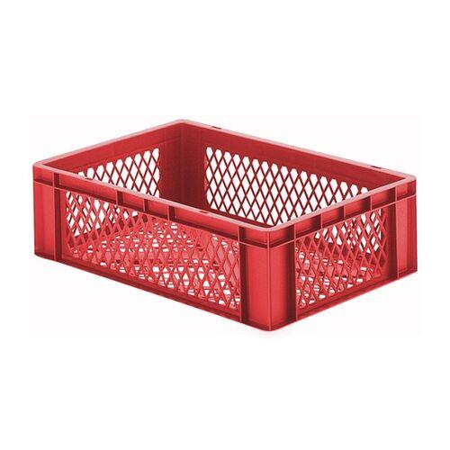 Transportkrat Euronorm plastic bak, krat TK2 600x400x175 rood