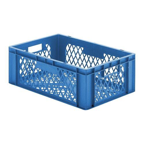 Transportkrat Euronorm plastic bak, krat TK2 600x400x210 blauw
