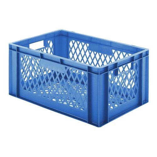Transportkrat Euronorm plastic bak, krat TK2 600x400x270 blauw