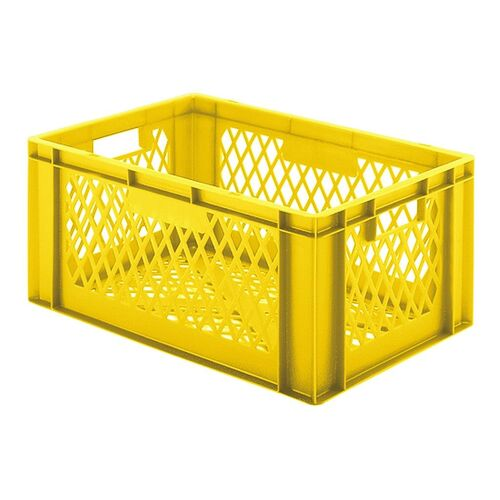 Transportkrat Euronorm plastic bak, krat TK2 600x400x270 geel
