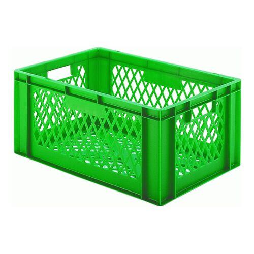 Transportkrat Euronorm plastic bak, krat TK2 600x400x270 groen