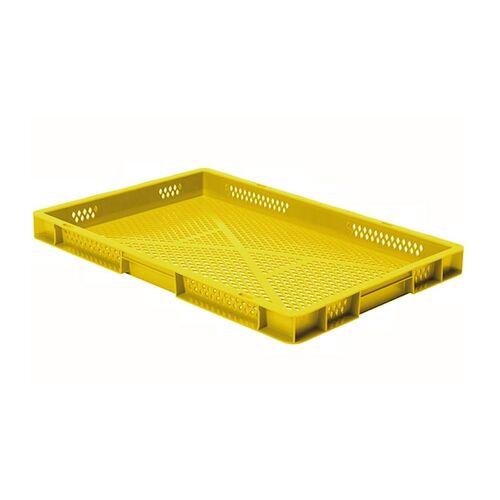 Transportkrat Euronorm plastic bak, krat TK2 600x400x50 geel