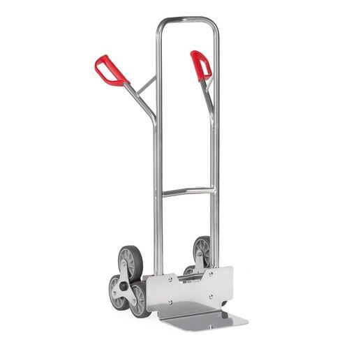 Trappensteekwagen aluminium 200 kg 1300 mm met 2 driearmige wielsterren