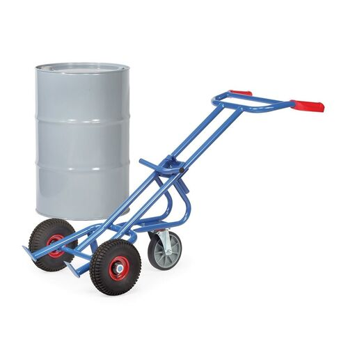 Vatensteekwagen 300 kg 1600 mm met luchtbanden en steun- zwenkwiel