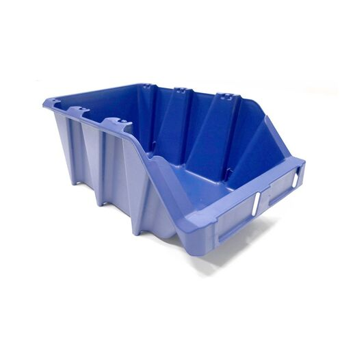 Voordeelverpakking 20 stapelbare en nestbare kunststof magazijnbakken type S5, 360x217x155 blauw