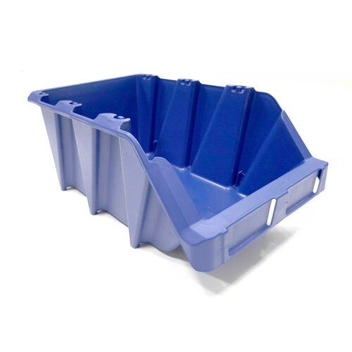 Voordeelverpakking 20 Begra stapelbare en nestbare kunststof magazijnbakken type S6, 420x265x177 blauw