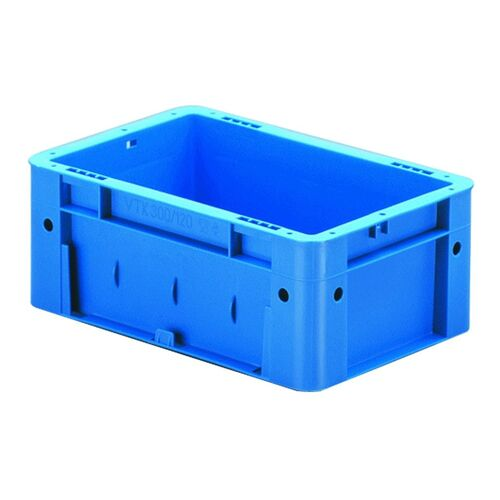 Zware transportkrat Euronorm plastic bak, krat VTK0 300x200x120 blauw