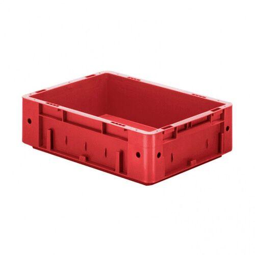 Zware transportkrat Euronorm plastic bak, krat VTK0 400x300x120 rood