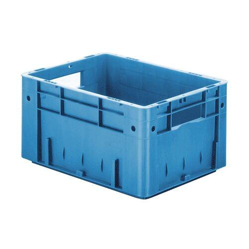 Zware transportkrat Euronorm plastic bak, krat VTK0 400x300x210 blauw