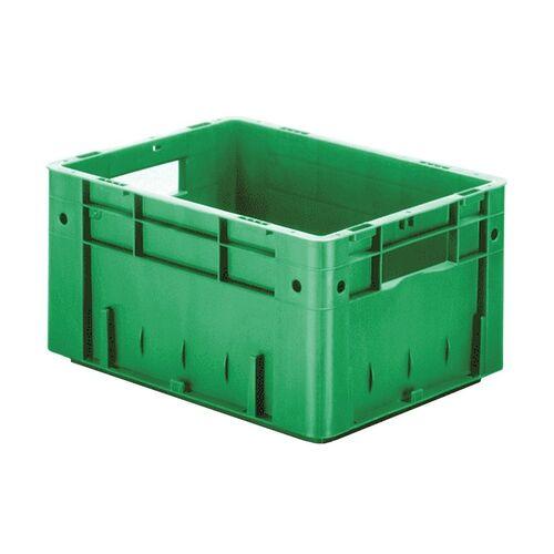 Zware transportkrat Euronorm plastic bak, krat VTK0 400x300x210 groen