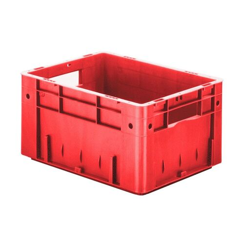 Zware transportkrat Euronorm plastic bak, krat VTK0 400x300x210 rood