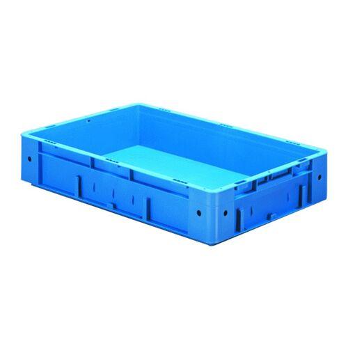 Zware transportkrat Euronorm plastic bak, krat VTK0 600x400x120 blauw