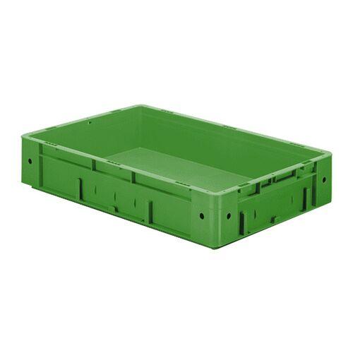 Zware transportkrat Euronorm plastic bak, krat VTK0 600x400x120 groen