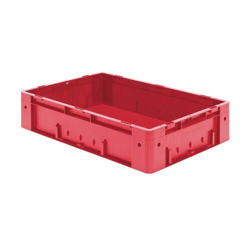 Zware transportkrat Euronorm plastic bak, krat VTK0 600x400x145 rood