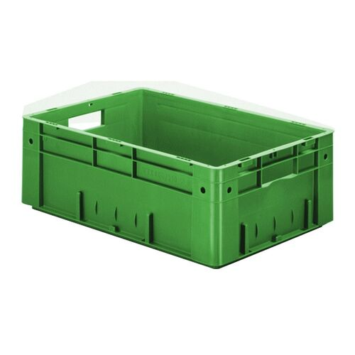 Zware transportkrat Euronorm plastic bak, krat VTK0 600x400x210 groen