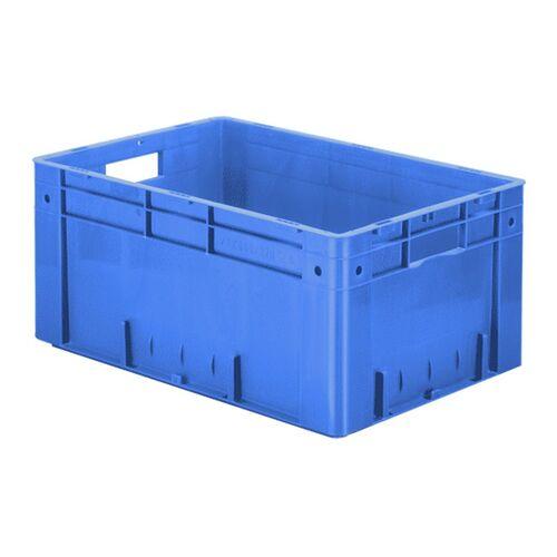 Zware transportkrat Euronorm plastic bak, krat VTK0 600x400x270 blauw
