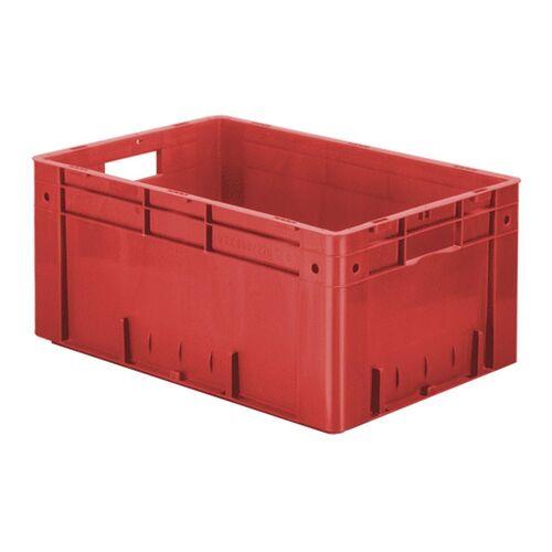 Zware transportkrat Euronorm plastic bak, krat VTK0 600x400x270 rood