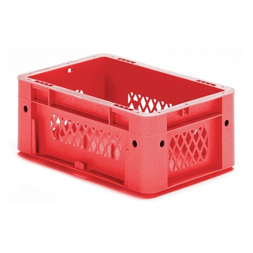 Zware transportkrat Euronorm plastic bak, krat VTK1 300x200x120 rood