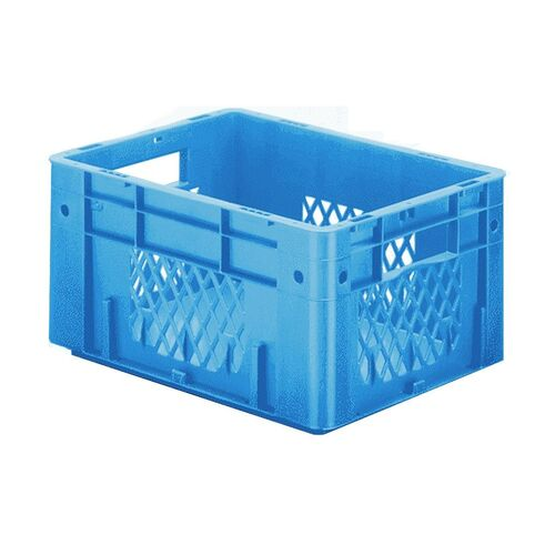 Zware transportkrat Euronorm plastic bak, krat VTK1 400x300x210 blauw
