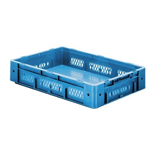 Zware transportkrat Euronorm plastic bak, krat VTK1 600x400x120 blauw