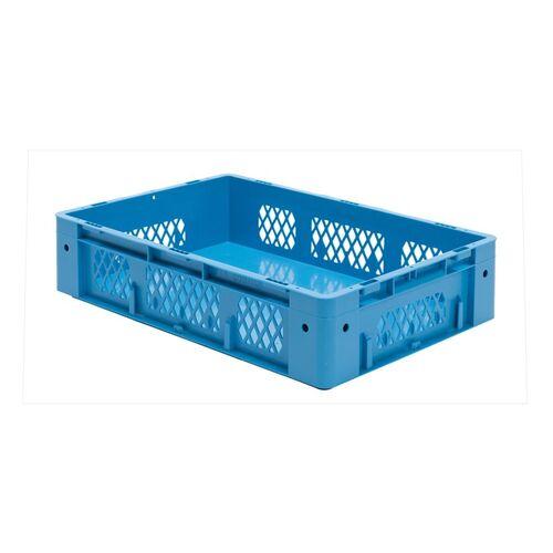 Zware transportkrat Euronorm plastic bak, krat VTK1 600x400x145 blauw