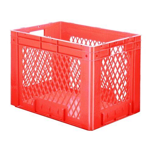 Zware transportkrat Euronorm plastic bak, krat VTK1 600x400x420 rood