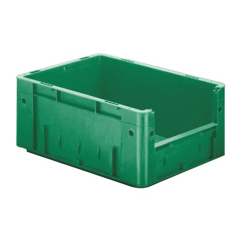 Zware transportkrat Euronorm plastic bak, krat VTK4 400x300x175 groen